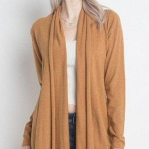 Dreamers by Debut Mustard Cardigan Sweater